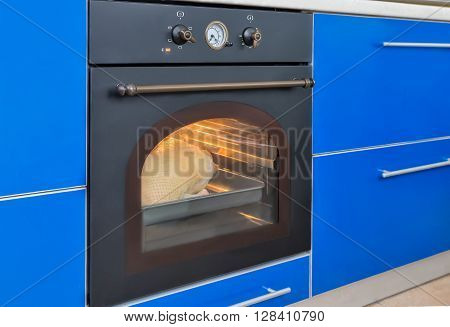 Modern electric oven in the style of