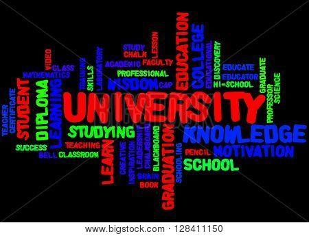 University, Word Cloud Concept 4