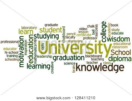 University, Word Cloud Concept 8