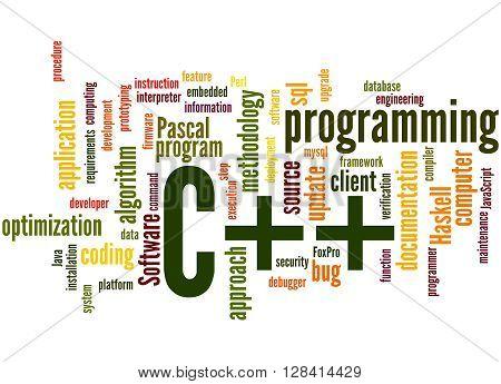 C++ Programming, Word Cloud Concept 5