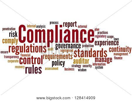 Compliance, Word Cloud Concept