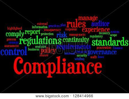 Compliance, Word Cloud Concept 6