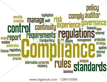 Compliance, Word Cloud Concept 9