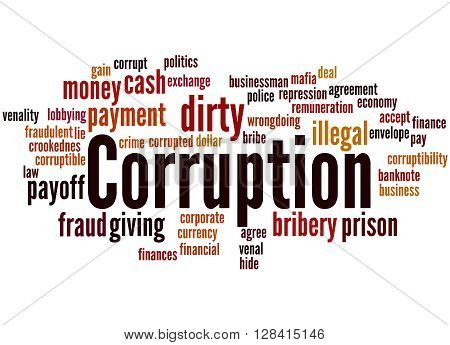 Corruption, Word Cloud Concept 5