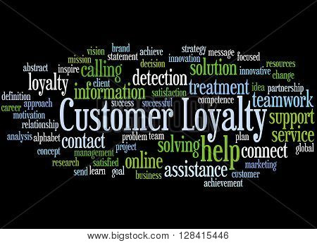 Customer Loyalty, Word Cloud Concept 8
