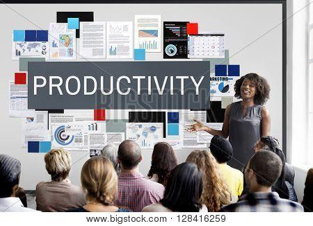 Productivity Efficiency Development Improvement Concept