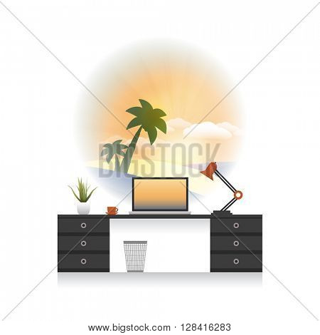 Dreaming In The Office - Holiday Is Coming - Office Interior Concept Design