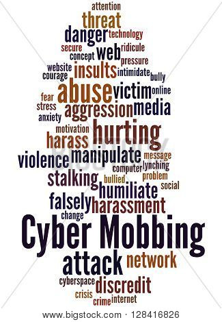 Cyber Mobbing, Word Cloud Concept 6