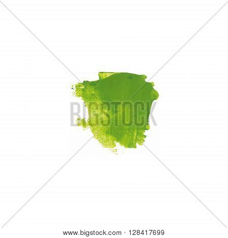 Yellow And Green Color Paint Smear Vector Brush Stroke. Varnish Splash Line. Abstract Shape Acrylic