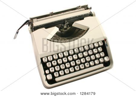 Old Cream Colored Typewriter