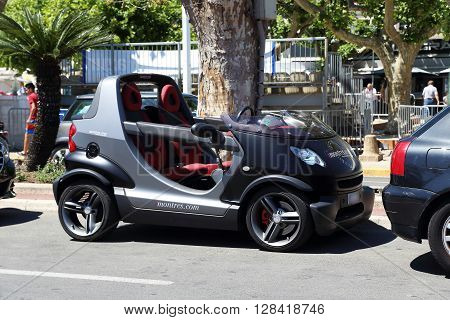 Cannes, France - May 22: This is car Smart Crossblade which is manufactured by Micro Compact Car May 22, 2015 in Cannes, France.