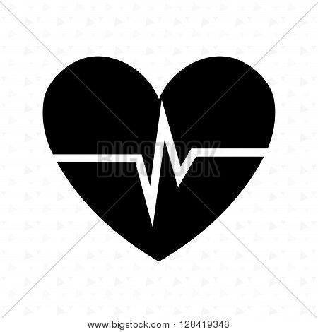 heart beat design, vector illustration eps10 graphic