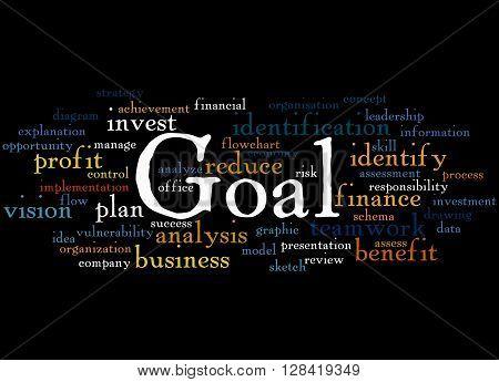 Goal, Word Cloud Concept 4