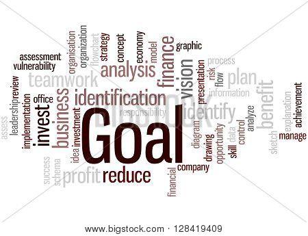 Goal, Word Cloud Concept 7