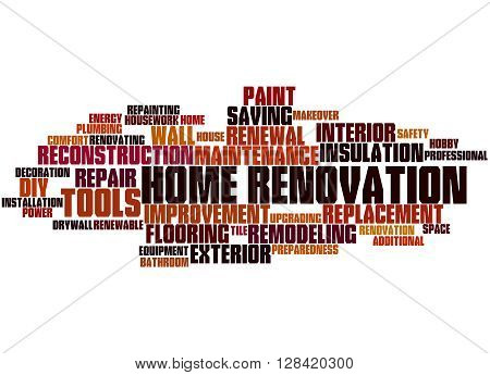 Home Renovation, Word Cloud Concept 3