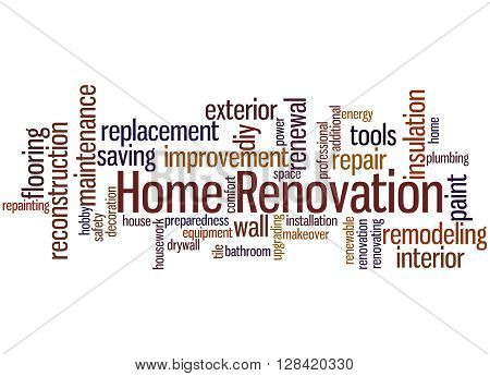 Home Renovation, Word Cloud Concept 5