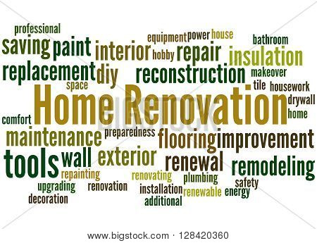 Home Renovation, Word Cloud Concept 7