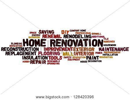 Home Renovation, Word Cloud Concept 9