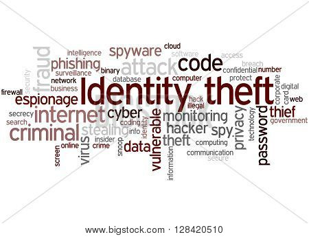 Identity Theft, Word Cloud Concept 6