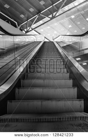 Escalator Room With Glass
