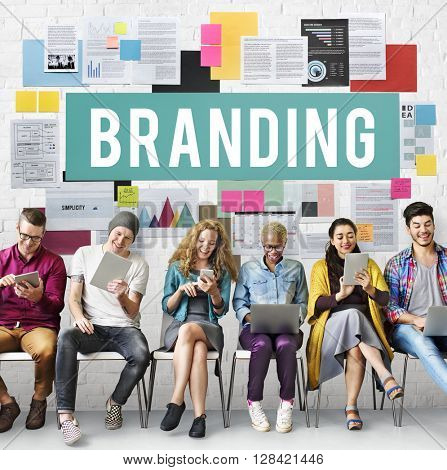 Branding Copyright Label Logo Marketing Sign Concept