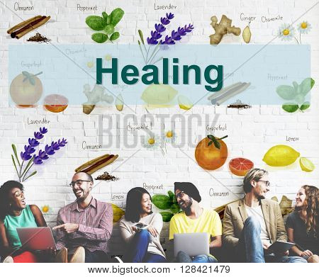 Health Care Treatment Vitamins Healing Concept