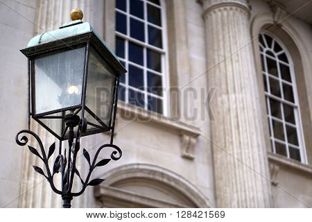 Old-Fashioned Street Lamp, Senate House, Cambridge, England ** Note: Soft Focus at 100%, best at smaller sizes