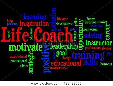 Life Coach, Word Cloud Concept 6