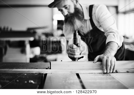 Handyman Occupation Craftsmanship Carpentry Concept