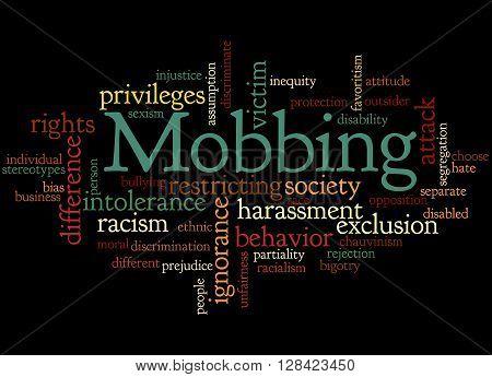 Mobbing, Word Cloud Concept 2