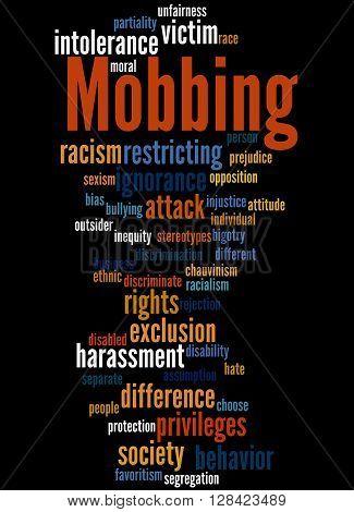 Mobbing, Word Cloud Concept 4