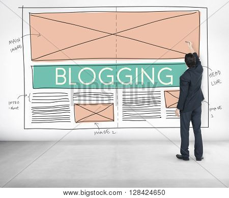 Blogging Blog Social Media Networking Internet Connecting Concept