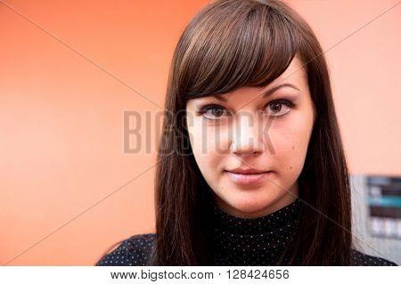 portrait of attractive woman. studio  shot