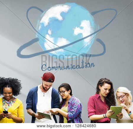 Communication Networking Online Technology Concept