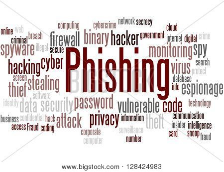 Phishing, Word Cloud Concept