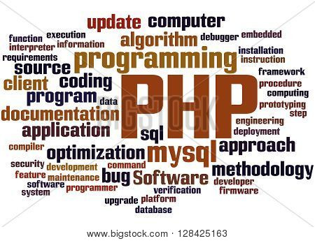 Php Programming, Word Cloud Concept