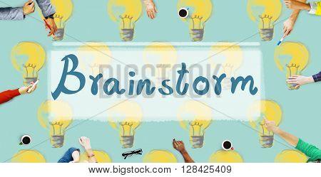 Brainstorm Ideas Creativity Imagination Inspiration Concept