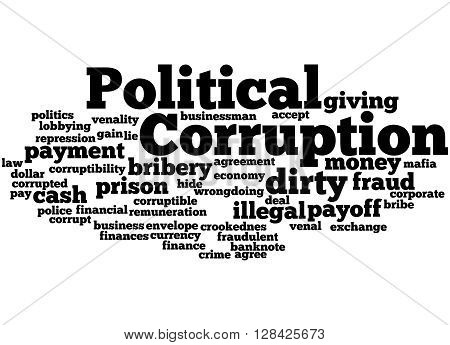 Political Corruption, Word Cloud Concept 7