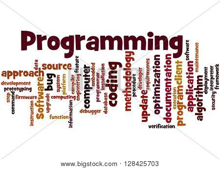 Programming, Word Cloud Concept