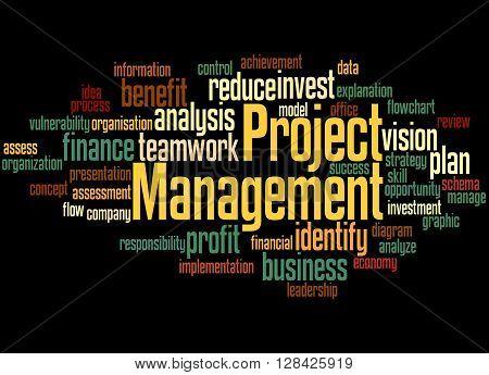 Project Management, Word Cloud Concept