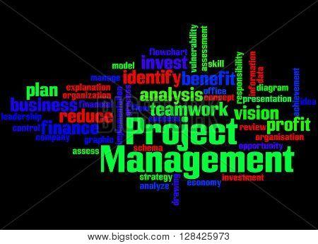 Project Management, Word Cloud Concept 3