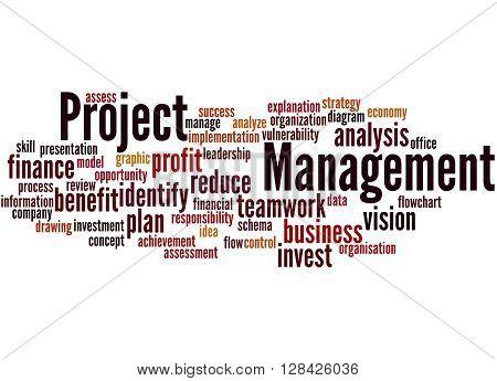 Project Management, Word Cloud Concept 6