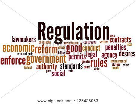 Regulation, Word Cloud Concept