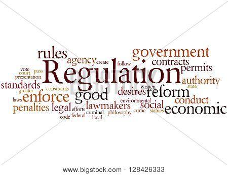Regulation, Word Cloud Concept 5