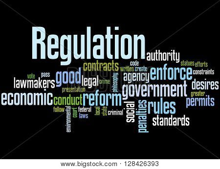 Regulation, Word Cloud Concept 6