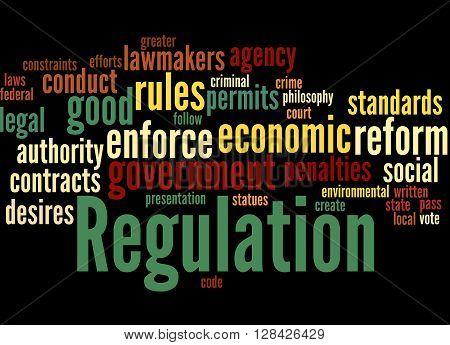 Regulation, Word Cloud Concept 8