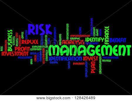 Risk Management, Word Cloud Concept 3