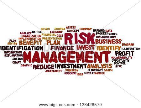 Risk Management, Word Cloud Concept 7