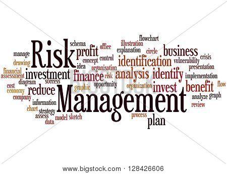 Risk Management, Word Cloud Concept 8