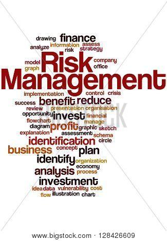 Risk Management, Word Cloud Concept 9